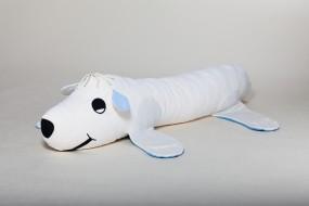 Ersatzbezug Kinderseitenschläferkissen Eisi Eisbär, natur, 140 x 35 cm