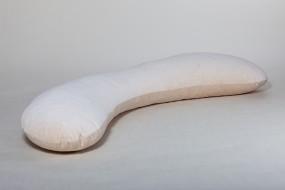 Netti Seitenschläferkissen, sand, 160 x 35 cm