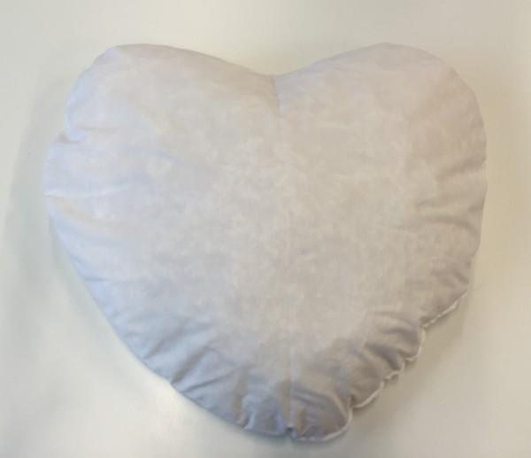 Inlett Herzi Herz, weiss, 70 x 70 cm
