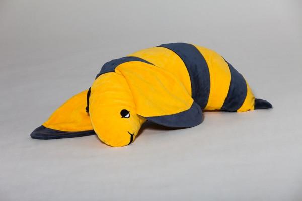 Ersatzbezug Schlafhörnchen Bini Biene, gelb/anthrazit, 60 x 30 cm