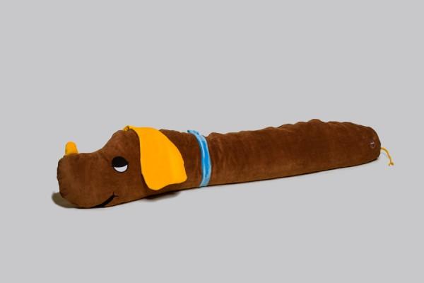 Ersatzbezug Seitenschläferkissen Harry Hund, braun, 140 x 35 cm