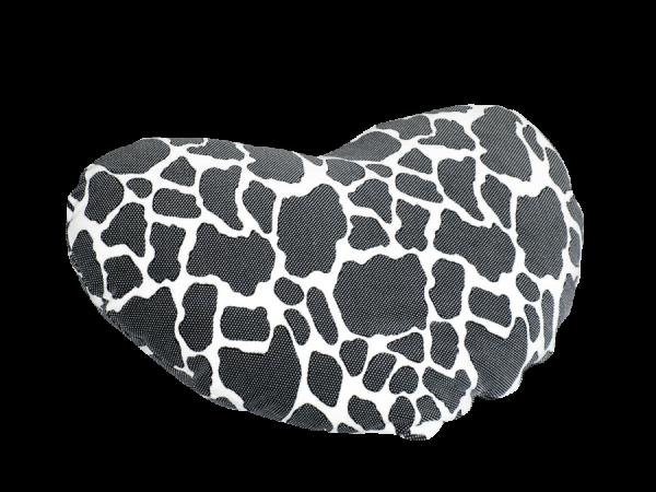 Kuschelkissen Herzi Herz, kuhflecken, 70 x 70 cm