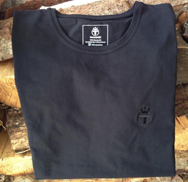 T-Shirt, Rundhals, schwarz