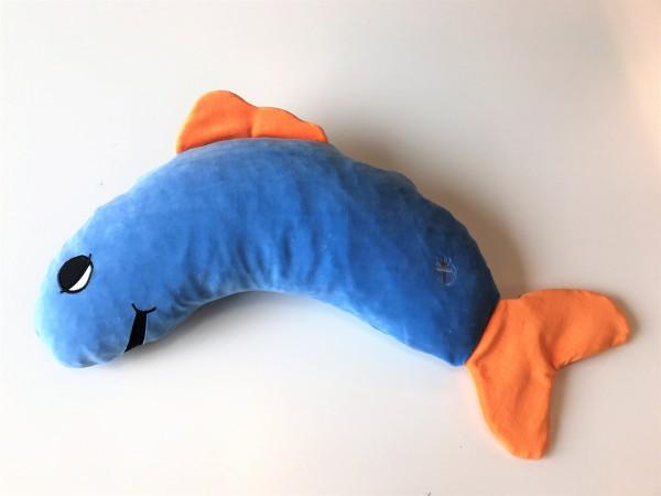 Schlafhörnchen Freddy Fisch, iris, 60 x 30 cm + 1 Tommschi Märchenbuch